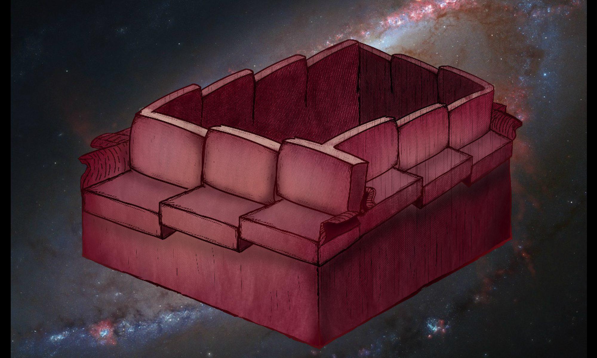 Non-Euclidean Sofa